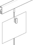 Magnet-Set für Bilderschienen