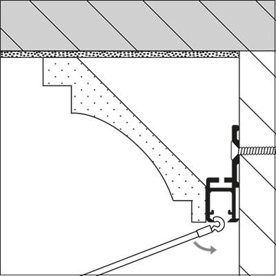 str ssmann bilderschienen prorail crown wandschiene. Black Bedroom Furniture Sets. Home Design Ideas