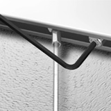 schienenstopper schr gstopper f r bilderschienen. Black Bedroom Furniture Sets. Home Design Ideas